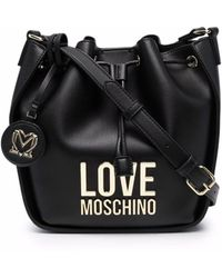 Love Moschino Сумка-ведро С Логотипом - Синий