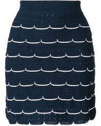 Sonia Rykiel - Scallop Fitted Skirt - Lyst