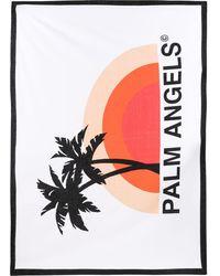 Palm Angels コットン ビーチタオル - ホワイト