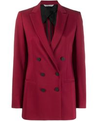 Tonello Double-breasted Blazer Jacket - Red