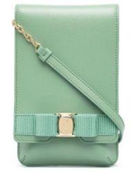Ferragamo Мини-сумка Через Плечо С Бантом - Зеленый