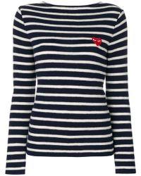 Play Comme des Garçons - Striped Sweatshirt - Lyst