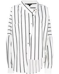 Ji Oh - Asymmetric Button Shirt - Lyst