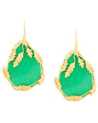 Aurelie Bidermann - Francoise Turquoise Earrings - Lyst