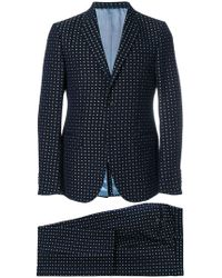 Gucci - Floral Embroidered Two-piece Suit - Lyst