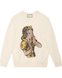 Gucci - Sequin Snow White Sweatshirt - Lyst