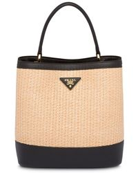 Prada Borsa Panier media - Multicolore