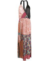 Pinko Платье Макси С Цветочным Принтом - Розовый