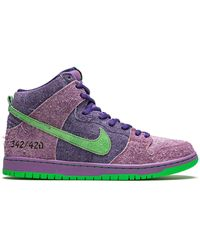 Nike Кроссовки Sb Dunk High - Пурпурный