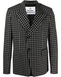 Vivienne Westwood チェック ジャケット - ブラック