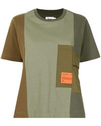 Izzue Logo-patch Cotton T-shirt - Green