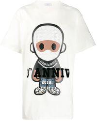 ih nom uh nit T-shirt à logo imprimé - Blanc