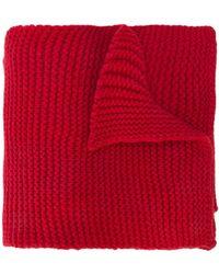 Camiel Fortgens Sciarpa in maglia - Rosso