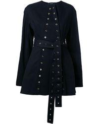 Ellery - Eyelet-Detail Cotton Belted Jacket - Lyst