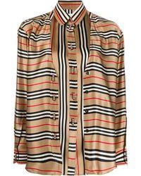 Burberry Двухслойная Рубашка В Полоску - Многоцветный