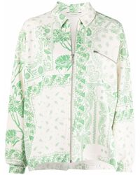 Holzweiler Paisley Organic Cotton Jacket - Green