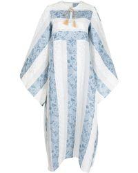 Bambah Mosa Stripe-pattern Kaftan Dress - Blue