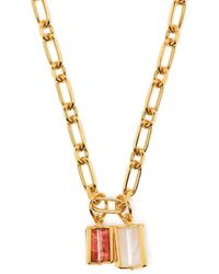 Colville Charm Chain-link Necklace - Metallic
