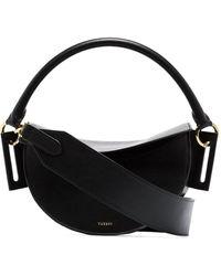 Yuzefi Dip Curved Shoulder Bag - Black