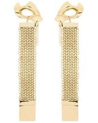 Ellery - Gold Broken Eye Drop Chain Earrings - Lyst