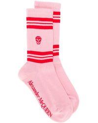 Alexander McQueen スカルモチーフ 靴下 - ピンク