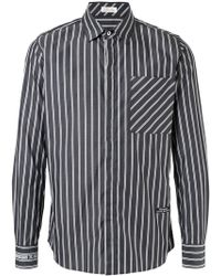 Education From Young Machines - Striped Fitted Shirt - Lyst