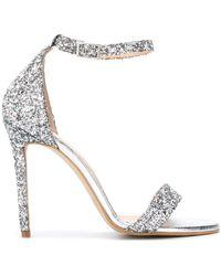 P.A.R.O.S.H. Glitter High-heeled Sandals - Metallic