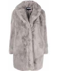 Apparis オーバーサイズカラー コート - グレー