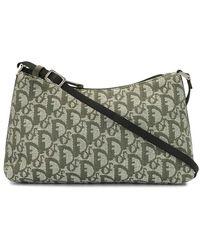 Dior Trotter Monogram Shoulder Bag - Green
