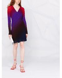 Missoni グラデーション ドレス - ブルー