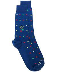 Etro - Four-leaf Clover Socks - Lyst