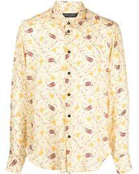 Garçons Infideles Hemd mit Paisley-Print - Mettallic