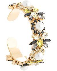 Erdem Crystal Bee Cuff Bracelet - Metallic