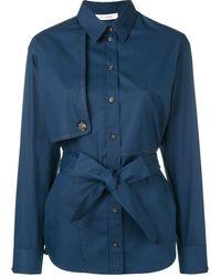 Cedric Charlier Belted Shirt - Blue