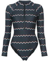 Cynthia Rowley - Shock Wave Electric Surf Suit - Lyst