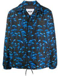 MSGM Куртка-рубашка С Принтом - Синий