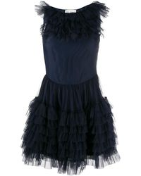 Molly Goddard Felicity ラッフル ドレス - ブルー