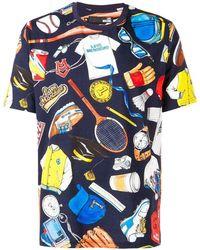 Love Moschino - T-Shirt mit buntem Print - Lyst