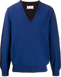 Maison Margiela Maglione bicolore - Blu