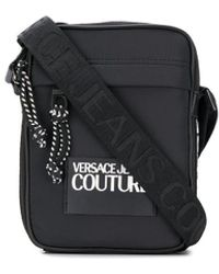 Versace Jeans Messenger Tas Met Logo - Zwart