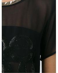 Adriana Degreas Round Neck Silk T-shirt - Черный