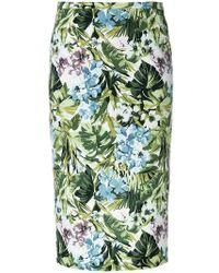 Pinko | Floral Print Pencil Skirt | Lyst