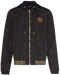 Versace フーデッド ジャケット - ブラック