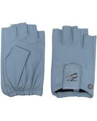 Karl Lagerfeld K/autograph フィンガーレス手袋 - ブルー