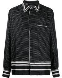 Dolce & Gabbana Polka Dot Pyjama-style Shirt - Black