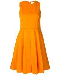 Calvin Klein Aライン シフトドレス - オレンジ