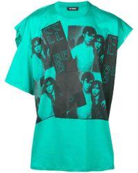 Raf Simons - Camiseta con mangas asimétricas - Lyst