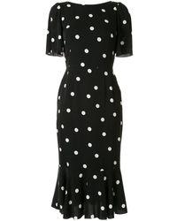 Dolce & Gabbana Polka-dot Print Dress - Black