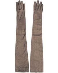 Brunello Cucinelli Long Slip-on Gloves - Metallic