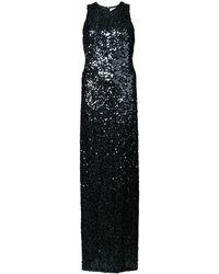 Galvan London Vestido de fiesta con lentejuelas - Negro